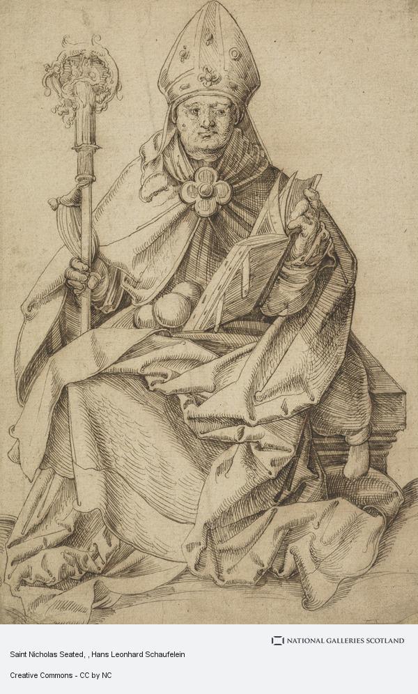 Hans Leonhard Schaufelein, Saint Nicholas Seated