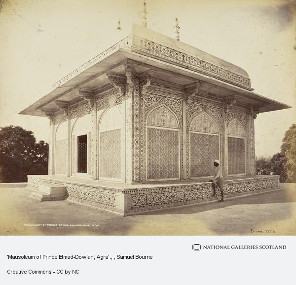 Samuel Bourne, 'Mausoleum of Prince Etmad-Dowlah, Agra'.