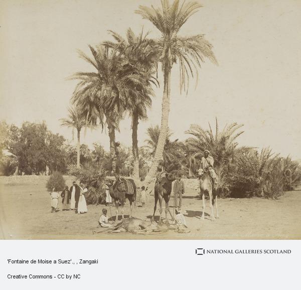 Zangaki, 'Fontaine de Moise a Suez'.