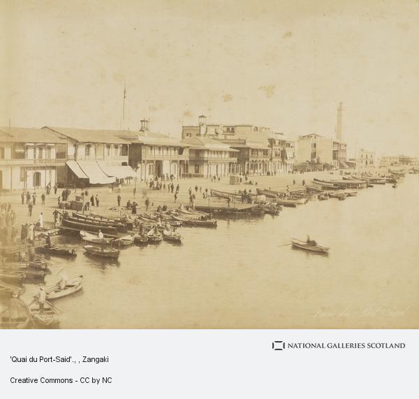 Zangaki, 'Quai du Port-Said'.