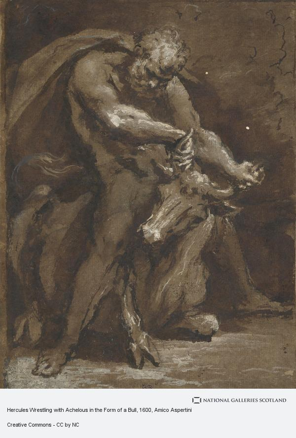 Amico Aspertini, Hercules Wrestling with Achelous in the Form of a Bull