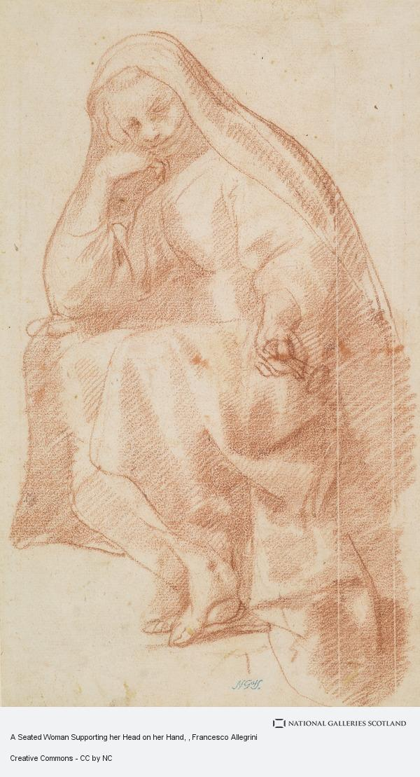 Francesco Allegrini, A Seated Woman Supporting her Head on her Hand