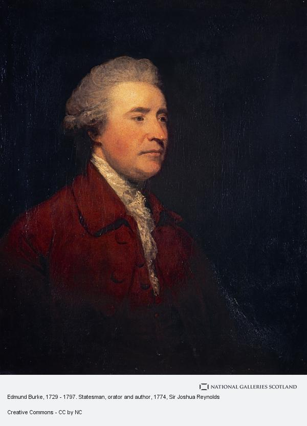 Sir Joshua Reynolds, Edmund Burke, 1729 - 1797. Statesman, orator and author