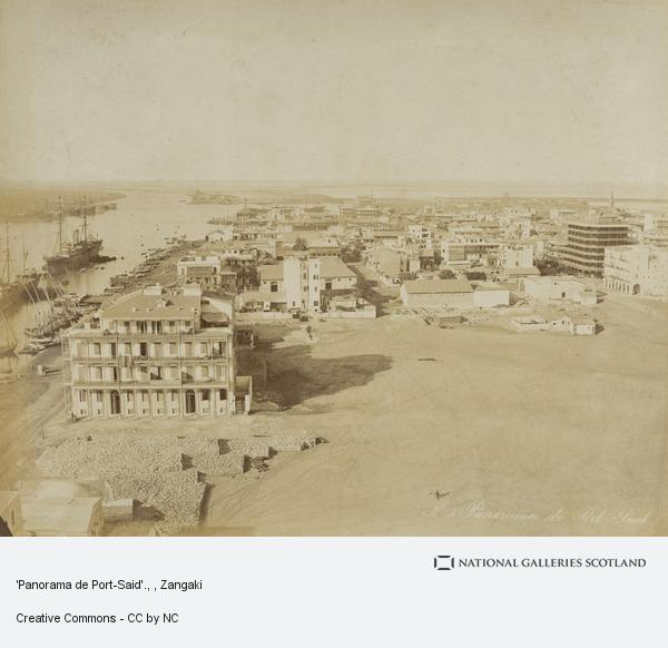 Zangaki, 'Panorama de Port-Said'.