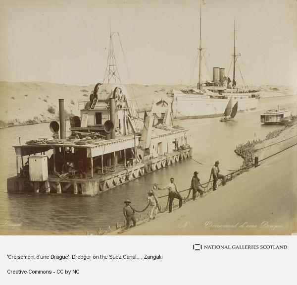 Zangaki, 'Croisement d'une Drague'. Dredger on the Suez Canal.