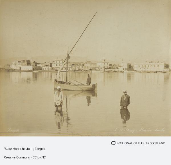 Zangaki, 'Suez Maree haute'.