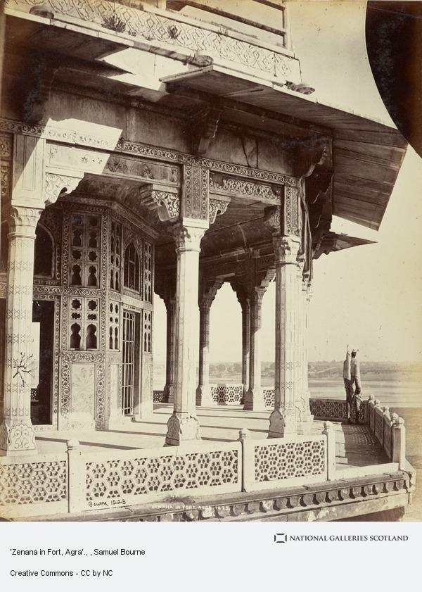 Samuel Bourne, 'Zenana in Fort, Agra'.
