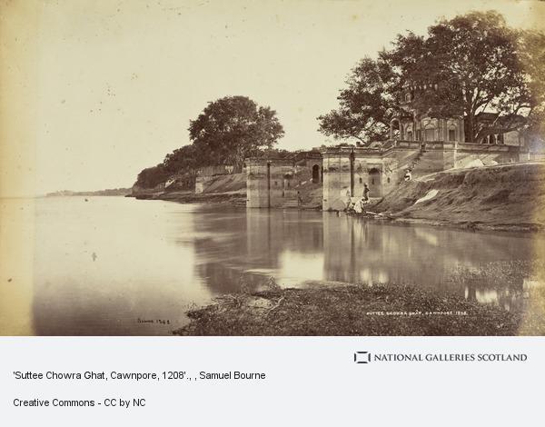 Samuel Bourne, 'Suttee Chowra Ghat, Cawnpore, 1208'.