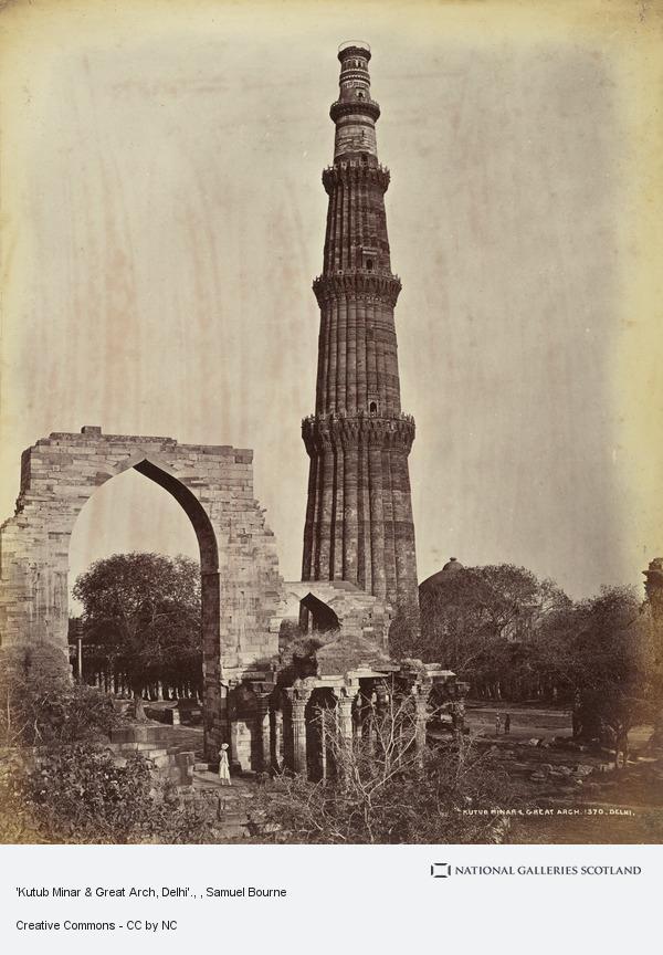 Samuel Bourne, 'Kutub Minar & Great Arch, Delhi'.
