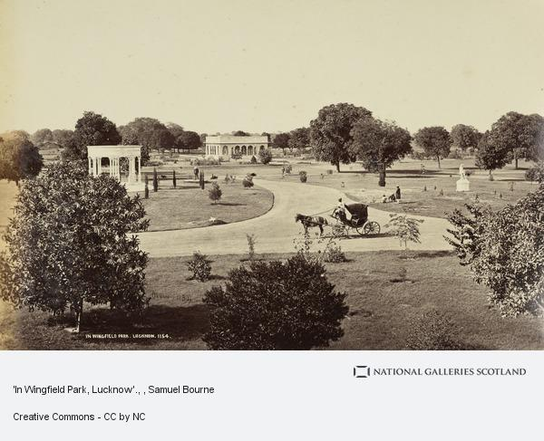 Samuel Bourne, 'In Wingfield Park, Lucknow'.
