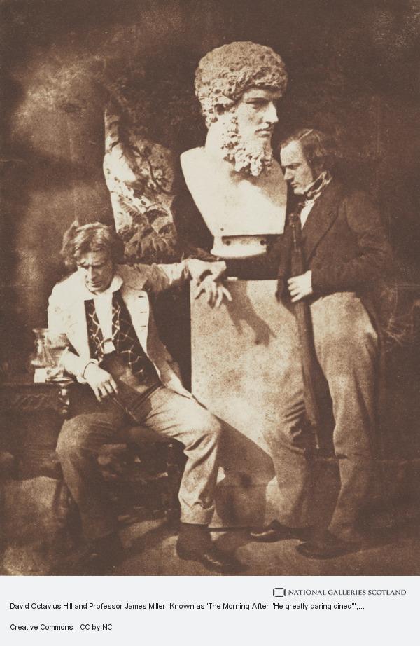 Robert Adamson, David Octavius Hill and Professor James Miller. Known as 'The Morning After