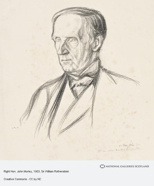 Sir William Rothenstein, Right Hon. John Morley
