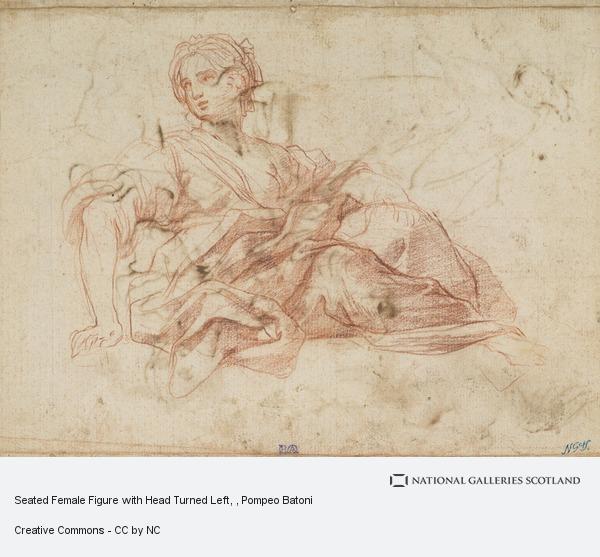 Pompeo Girolamo Batoni, Seated Female Figure with Head Turned Left