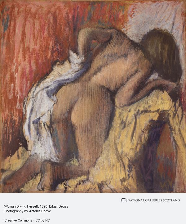 Hilaire-Germain-Edgar Degas, Woman Drying Herself