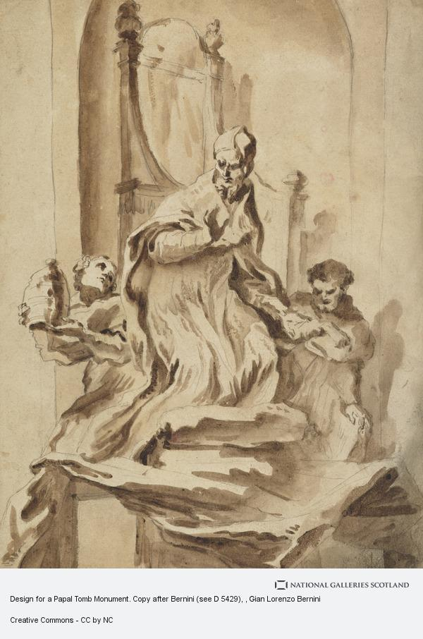 Gian Lorenzo Bernini, Design for a Papal Tomb Monument. Copy after Bernini (see D 5429)