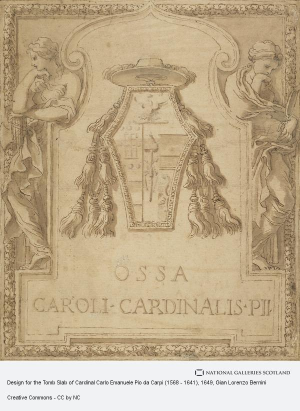 Gian Lorenzo Bernini, Design for the Tomb Slab of Cardinal Carlo Emanuele Pio da Carpi (1568 - 1641)