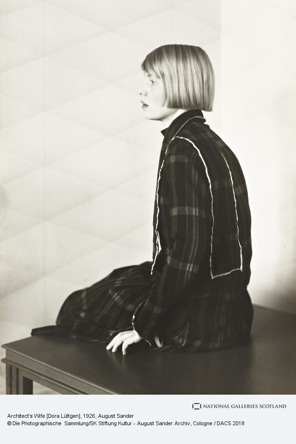 August Sander, Architect's Wife [Dora Lüttgen], 1926 (1926)