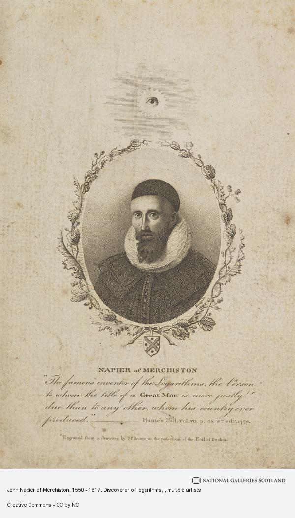 John Beugo, John Napier of Merchiston, 1550 - 1617. Discoverer of logarithms