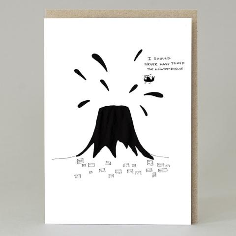 I should never have joined the Mountain Rescue greeting card