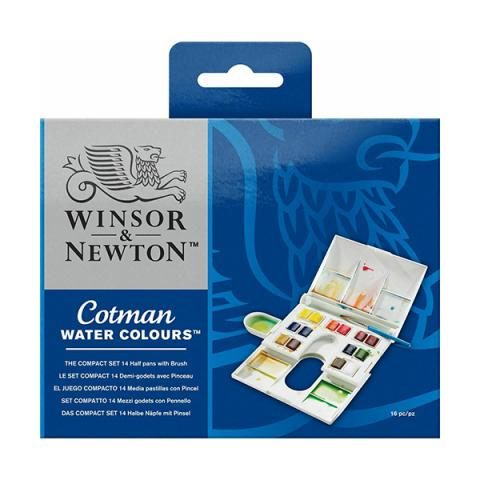 Cotman watercolours compact set (14 colours)
