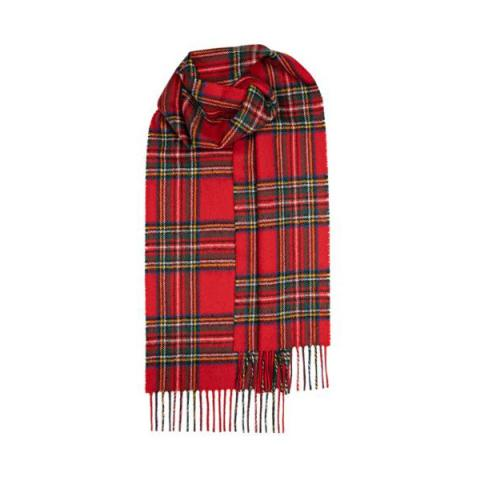 100% pure lambs wool Royal Stewart red tartan scarf