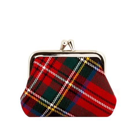 100% pure lambswool Royal Stewart red tartan coin purse