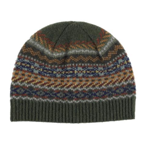 100% pure new wool Lorimer stripe pattern green Green Grove hat