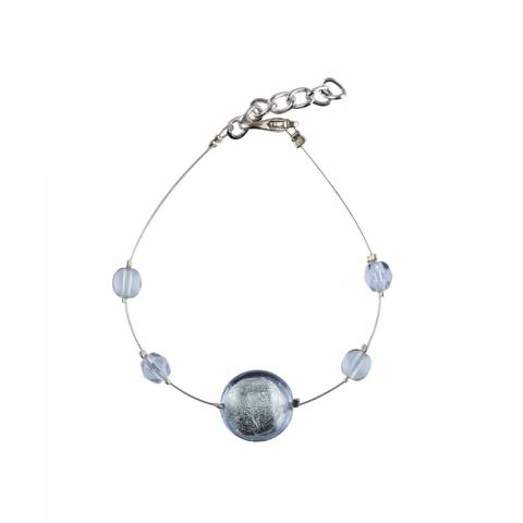 Murano glass silver smartie bracelet