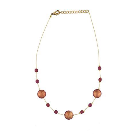 Murano glass amber smartie necklace