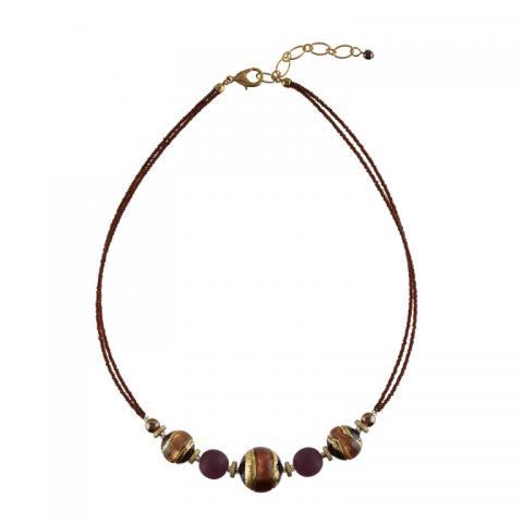 Murano purple glass Berenice necklace