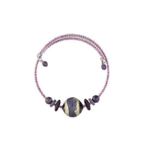 Murano glass purple Berenice bracelet