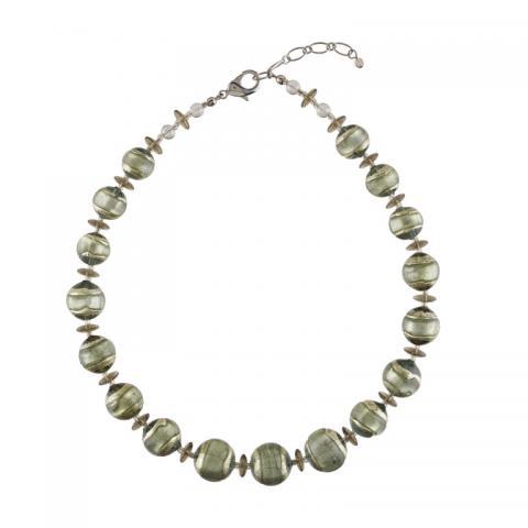 Murano glass green full Berenice necklace