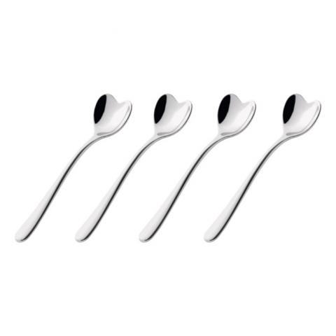 Set of Four Coffee Spoons Alessi