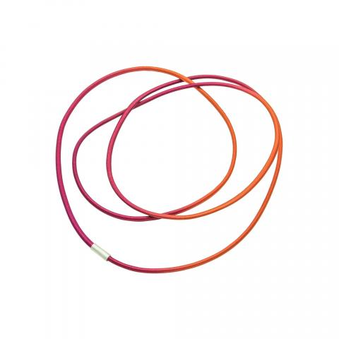 Gilly Langton Orange Red String Necklace