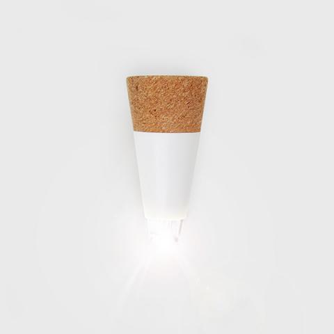 Cork-shaped white LED bottle light