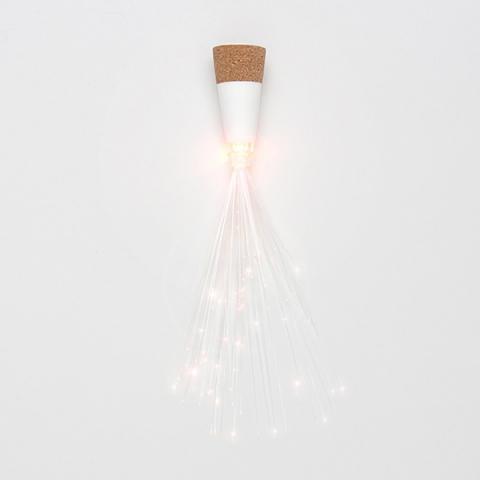 Cork-shaped fibre optic bottle light