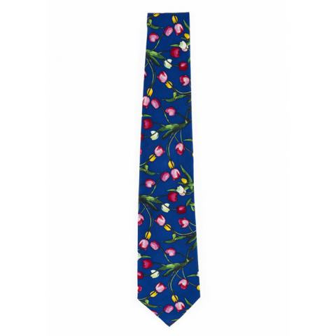 Tulips The Blue Jug Samuel John Peploe Blue Silk Tie