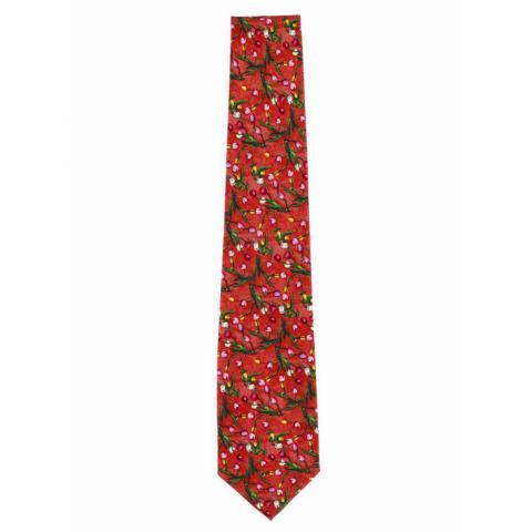Tulips The Blue Jug Samuel John Peploe Red Silk Tie