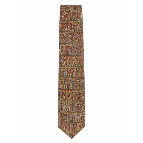 Scottish National Portrait Gallery processional frieze silk tie