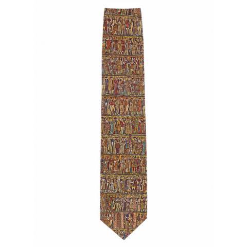 Scottish National Portrait Gallery Frieze Silk Tie