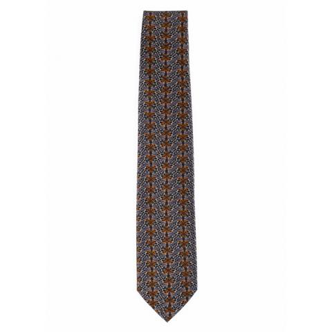 Moth pattern by Patrick Syme silk tie