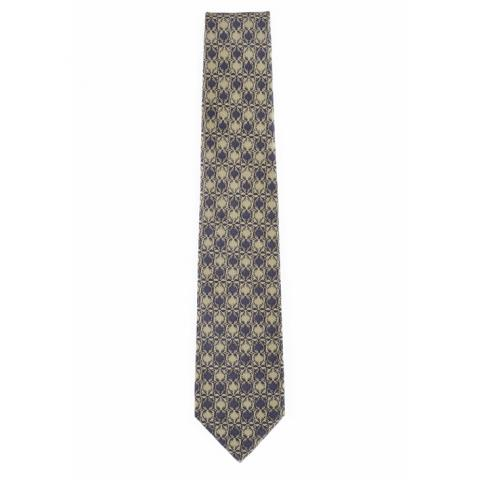 Thistle pattern by Anton Seder grey silk tie