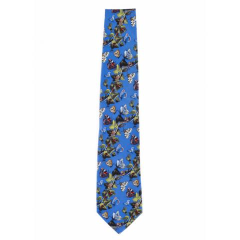 Still life by Van Kessel blue silk tie