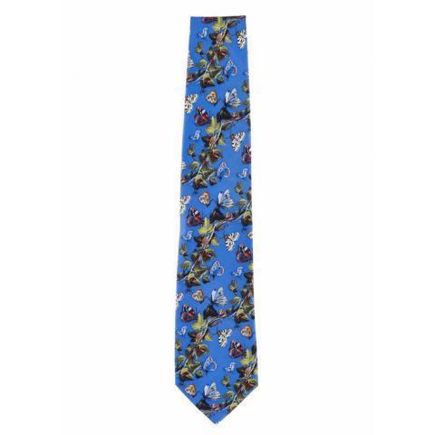 Still Life Van Kessel Blue Silk Tie