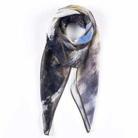 Wandering Shadows by Peter Graham silk scarf