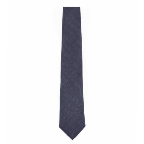 Reverend Walker repeat pattern grey silk tie