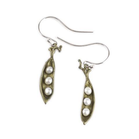 Michael Michaud Pea Pod Drop Earrings