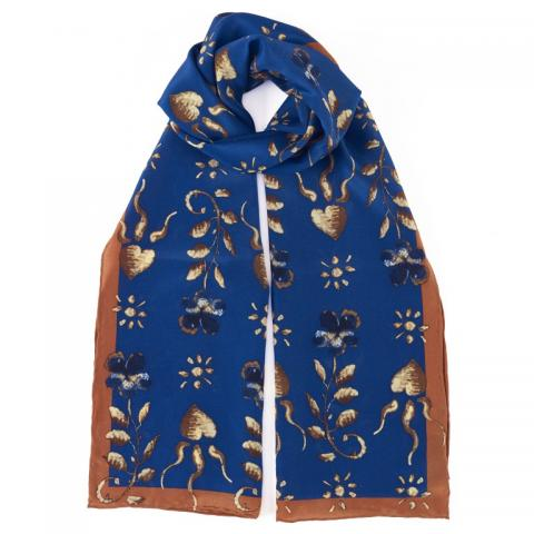 Erskine Blue/Orange George Jamesone Silk Scarf