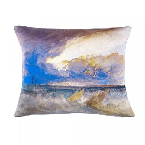 Sea View JMW Turner Silk Cushion
