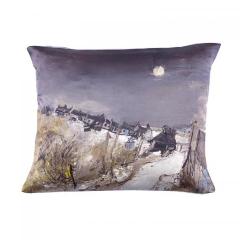 Catterline in Winter Joan Eardley Silk Cushion